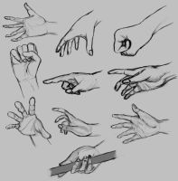 Hands sketches by Natah1