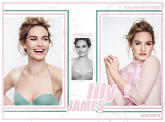 // PHOTOPACK 2667 - LILY JAMES // by censurephotopacks