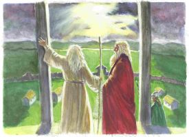 Gandalf and Theoden by TolmanCotton