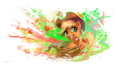 Splatter of Apples by Huussii