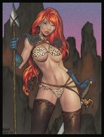 Red Sonja by BrightFlameInk