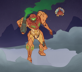 Metroid Prime by StrictlyMecha