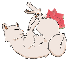Mike and Watermelon by Toxoplasmosis-Cat