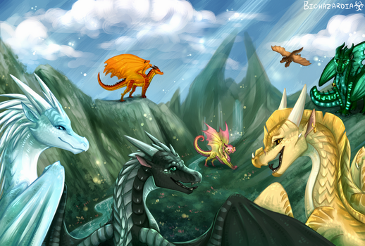 Wings of Fire - Welcome to Jade Mountain by Biohazardia
