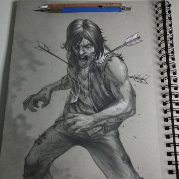 Zombie Daryl from Walking dead by graphitenightmare
