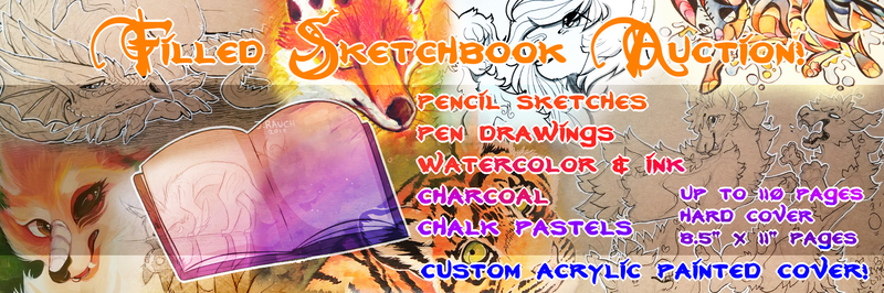 Filled Sketchbook Auction! (CLOSED) by NaritaCoree