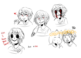 Chara Sketches by cryptidroad