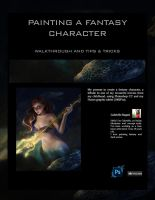 Painting a fantasy character - Ariel - Walkthrough by gabrielleragusi