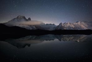Mont Blanc in the Mirror by RobertoBertero