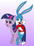 Buster Bunny and Twilight Sparkle by Framwinkle