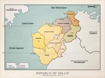 Vallis Political Map (Anterra) by graphicamechanica
