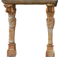 Caryatids PNG stock by lubman
