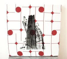 NYC aerodrome textile panel by Serensdipity
