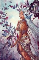 Weena and the butterflies by solfieri