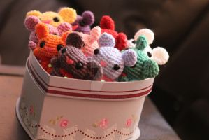 Kawaii Amigurumi Mice by ThePurpleLilac