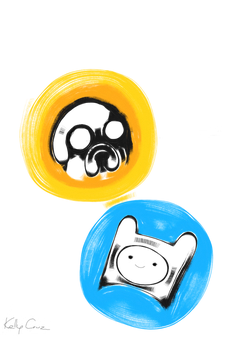 Jake the Dog and Finn the Human by LoveKellyRebecca