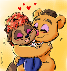 A Cute Muppet Couple by joaoppereiraus