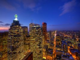 Financial district and Yonge st. by MildlyReactive
