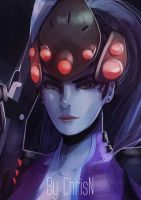 Overwatch's Widowmaker by ChrisN-Art