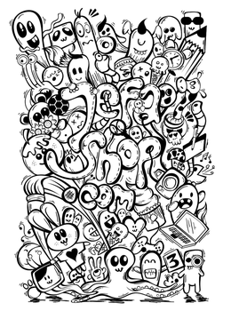 Small-Jefashop-Doddle-art-nocolor by AsepPhotoshoper