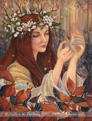 Autumn Elven Lady by JoannaBromley
