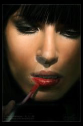 'Evening Make-Up' Painting by DARK0NA