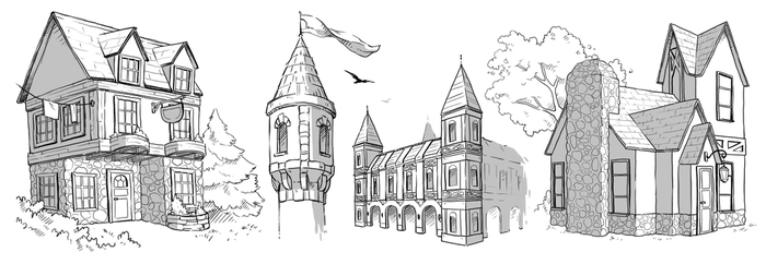 Architecture sketches by LydiaBrowne