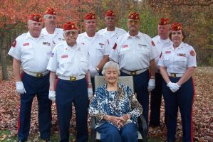 Grandma and the Marine Color guard. by fanfictionaxis