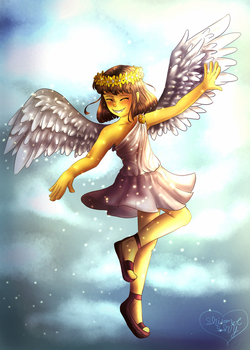 Angel of Mercy [+Speedpaint] by Shimmer-Shy
