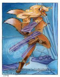 Belly Dancer Fox by Cybercat and Ralloonx by lady-cybercat