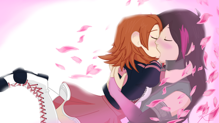 A long awaited kiss - RENORA Valentinesday Special by WaterlovingArielle