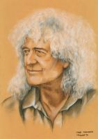 Brian May, Queen by AnnaMorozova