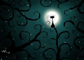 Moon cat by supernaturall