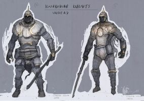 Iguanodian Knights - Undead Characterdesign by Brollonks