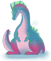 Bright Big Butt Dragon (3 Color Challenge) by The-real-Vega777