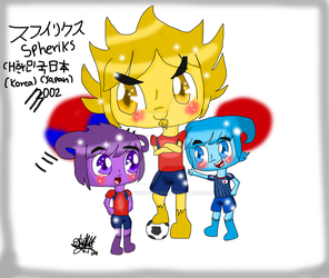 World cup mascots-spheriks by migetrina4ver2018