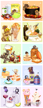 Overwatch Food Collection by CubedCake