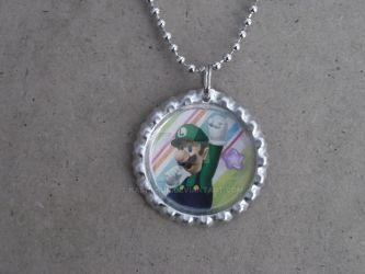 Luigi Necklace by Kashi-kun
