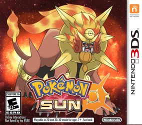 FAKE Pokemon Sun Box Art by Phatmon