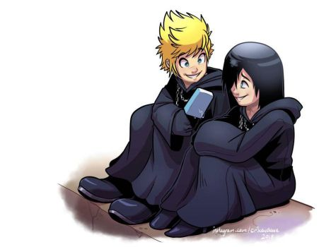 Roxas and Xion by SupaCrikeyDave