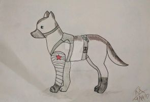 Bucky Puppy by littleflamekitten