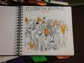 Foster the people album cover by Julia13art