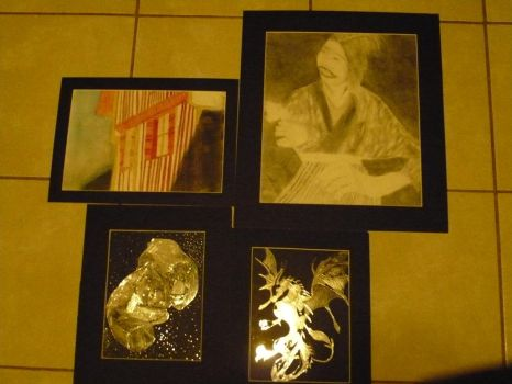 drawing work - all matted by Book-Dragon211
