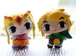Customs 199 and 200: Zelda and Link (WW style) by pia-chu