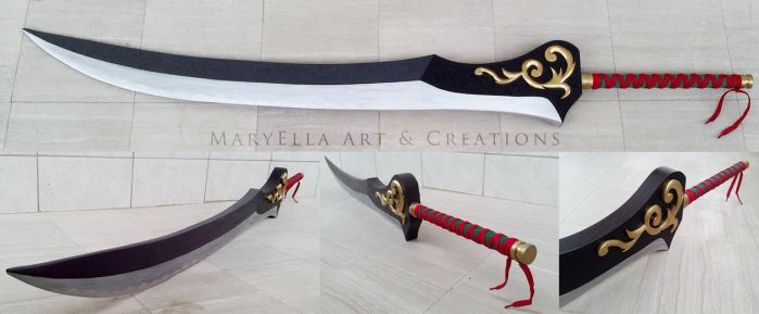 Auron Katana - 1:1 wood replica by MithriLady