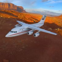 Avro RJ70 Over a Canyon by VanishingPointInc