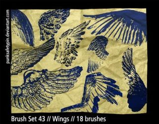 Brush Set 43 - Wings by punksafetypin