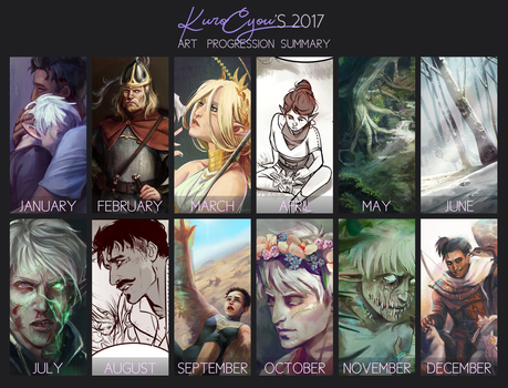 2017 Summary of Art by KuroCyou