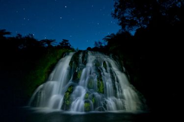 Owharoa Falls by night by anjules