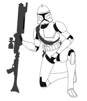 Clone Trooper with Strap and DC-15A by FBOMBheart